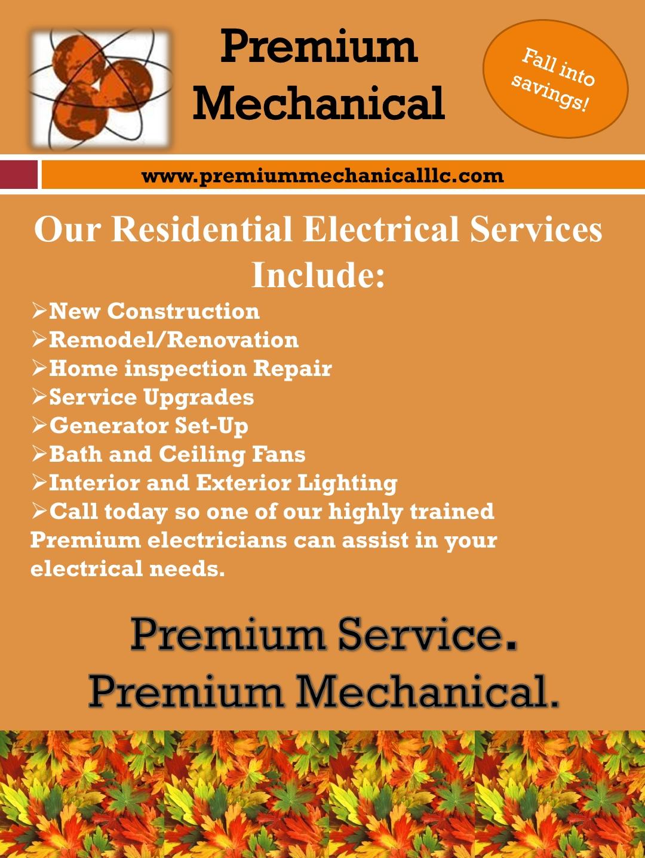 Premium Mechanical Fall Flyer 20141